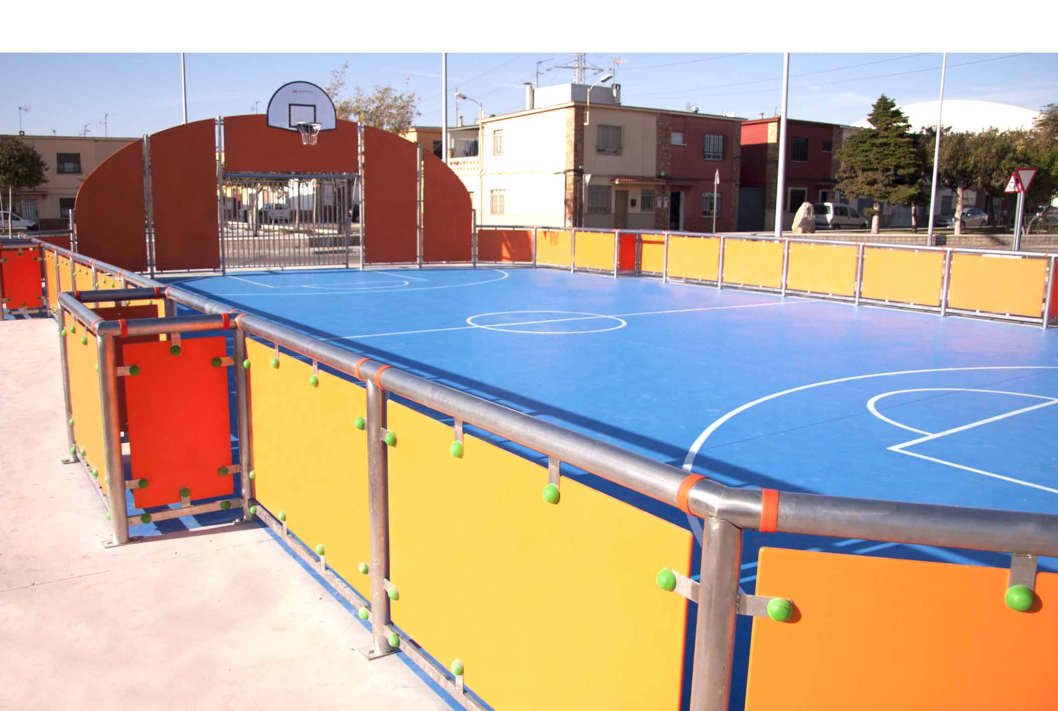 multisport court with additional mini soccer goals