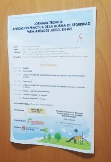 Technical education daily about children's playgrounds at Alicante