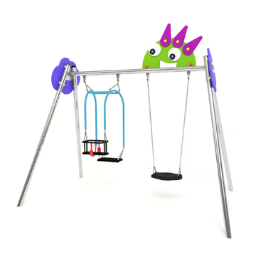 new monsters swing with two seats, Koala swing's seat and flat rubber seat