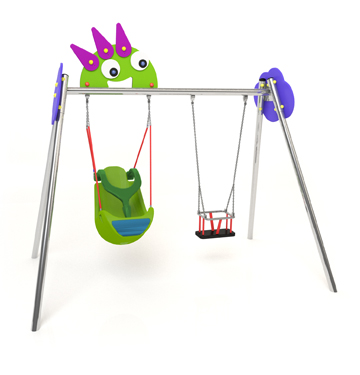 new monsters swing with two seats, special baby seat and inclusive swing's seat